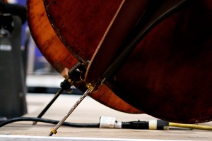 How to hold an upright bass (endpin adjust)